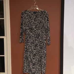 Chaps black and creme dress size Large